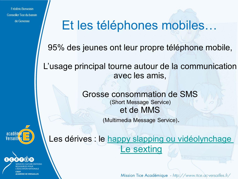 Et les téléphones mobiles…
