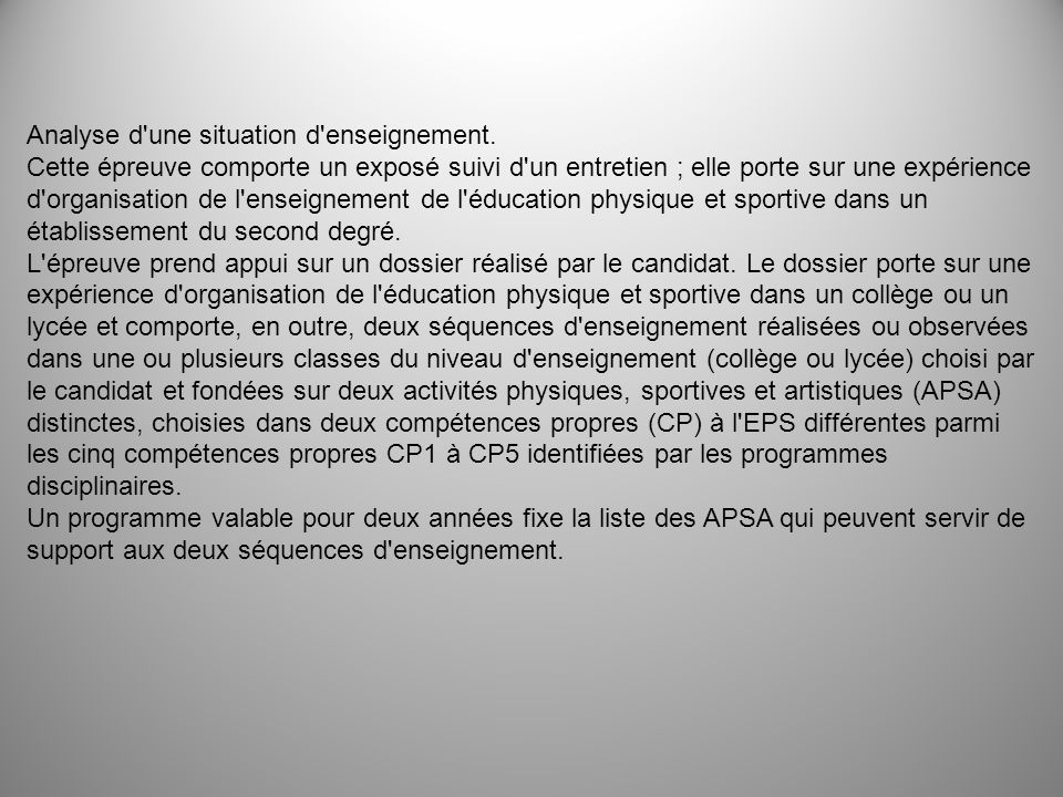 Analyse d une situation d enseignement.