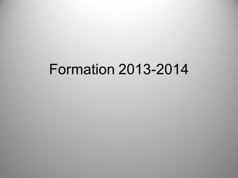 Formation 2013-2014