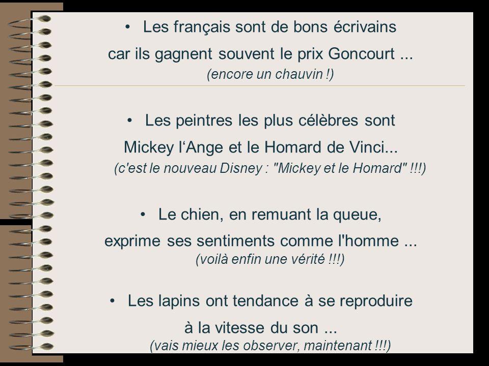 Les français sont de bons écrivains