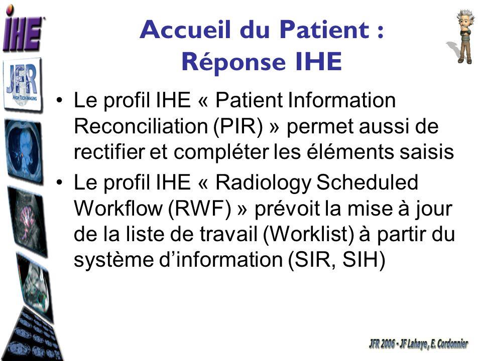 Accueil du Patient : Réponse IHE