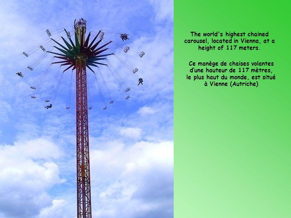 Ce manège de chaises volantes d'une hauteur de 117 mètres,