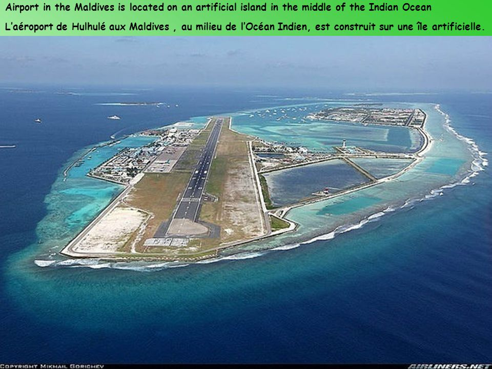 Airport in the Maldives is located on an artificial island in the middle of the Indian Ocean