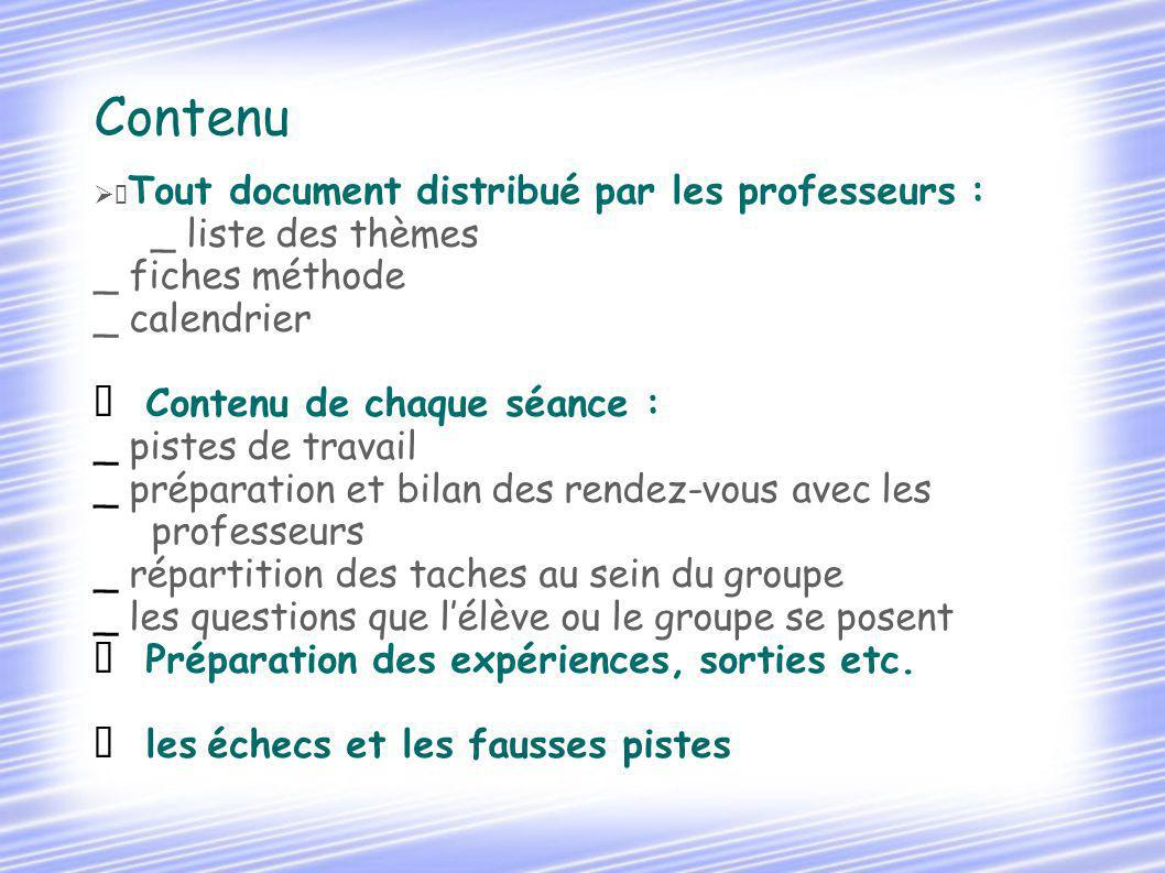 Contenu _ liste des thèmes _ fiches méthode _ calendrier