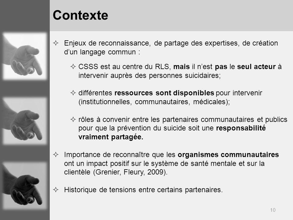 Contexte Enjeux de reconnaissance, de partage des expertises, de création d'un langage commun :