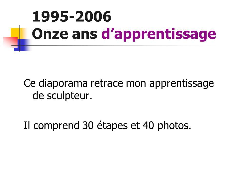 1995-2006 Onze ans d'apprentissage