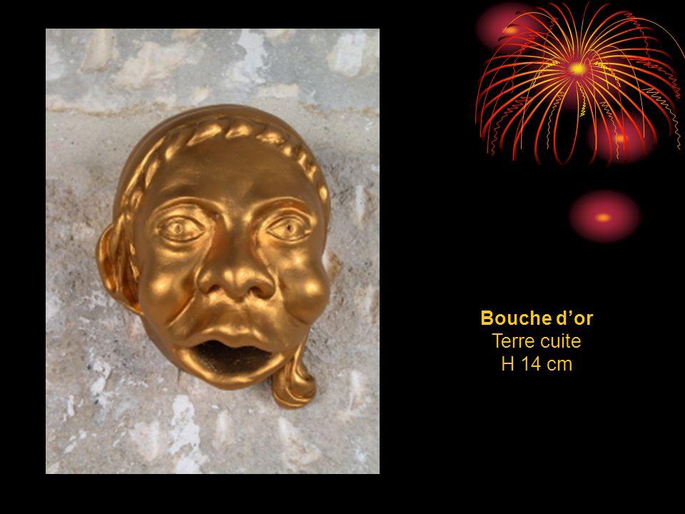Bouche d'or Terre cuite H 14 cm
