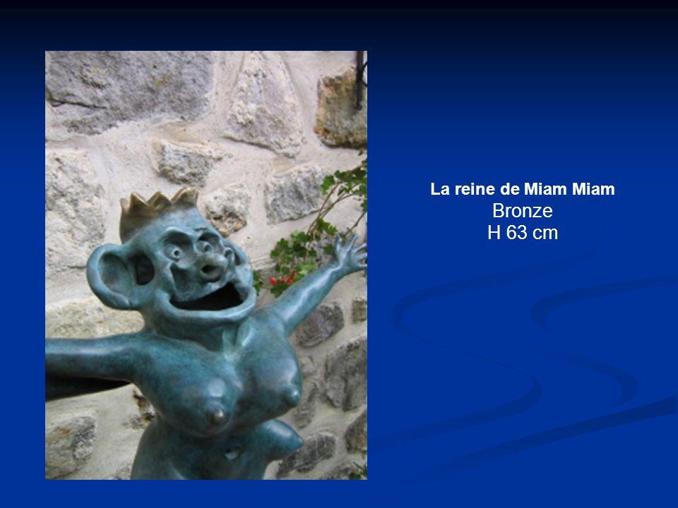 La reine de Miam Miam Bronze H 63 cm