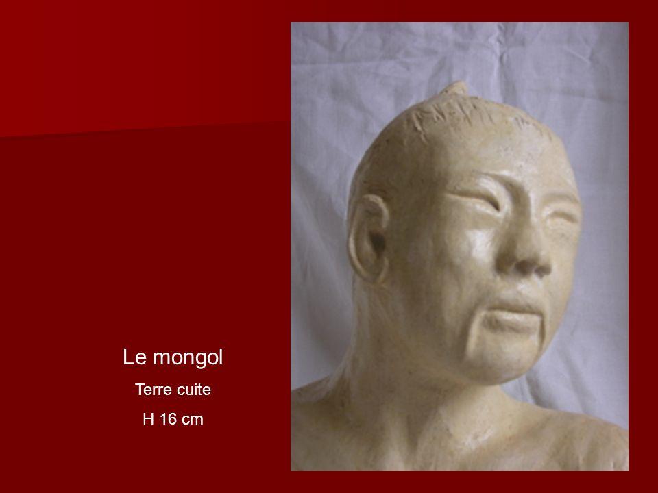 Le mongol Terre cuite H 16 cm