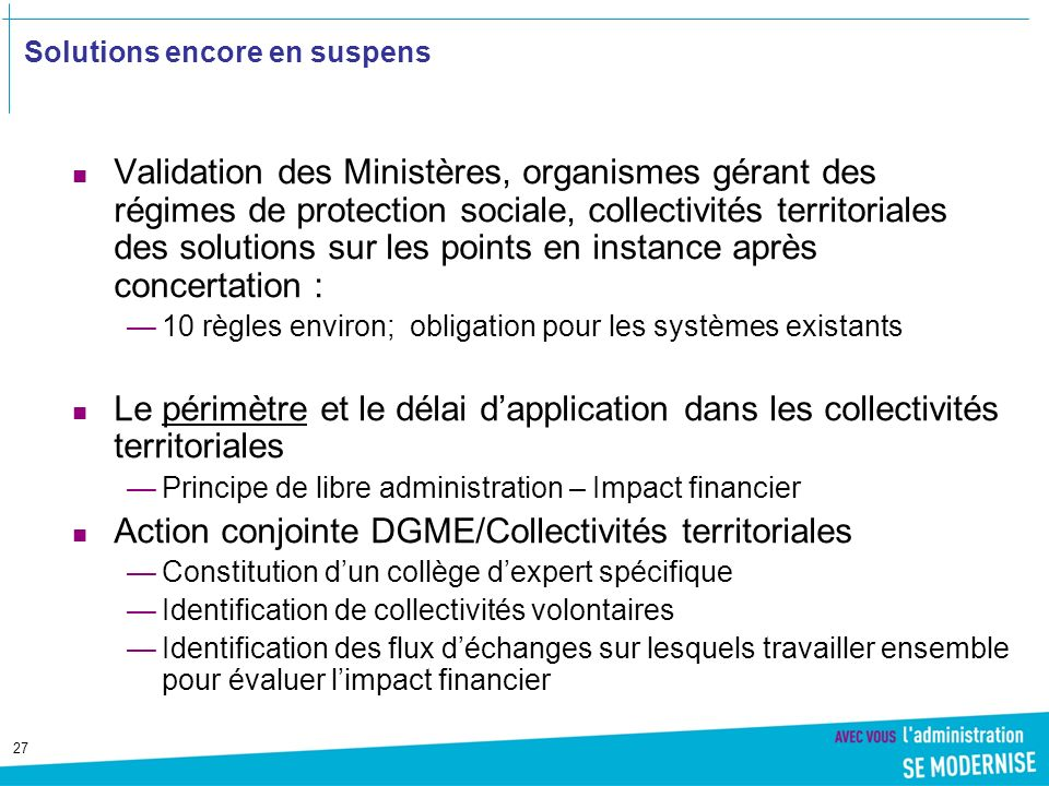 Solutions encore en suspens