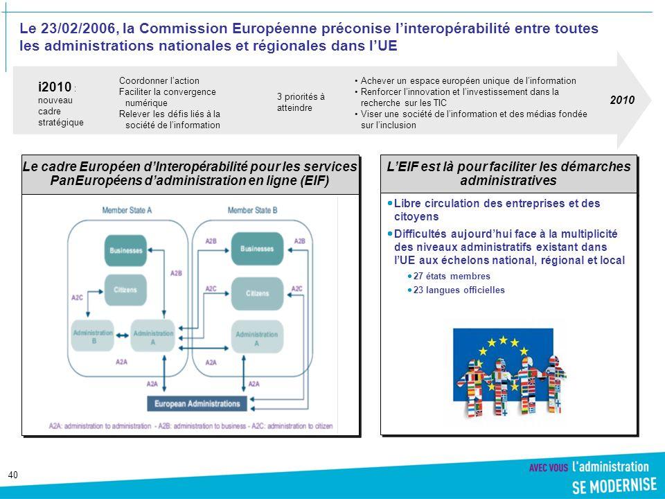 L'EIF est là pour faciliter les démarches administratives