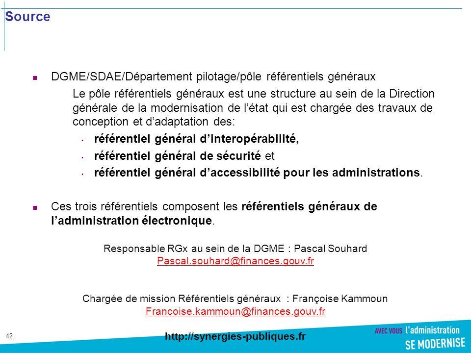 Source DGME/SDAE/Département pilotage/pôle référentiels généraux