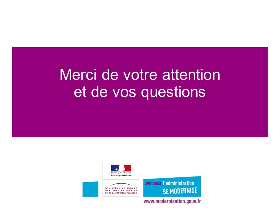 Merci de votre attention et de vos questions