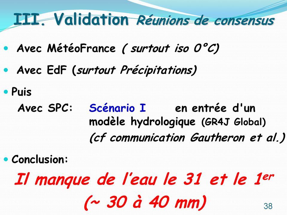 III. Validation Réunions de consensus