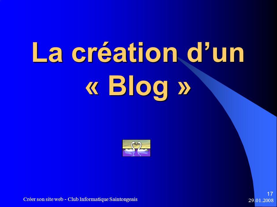 La création d'un « Blog »