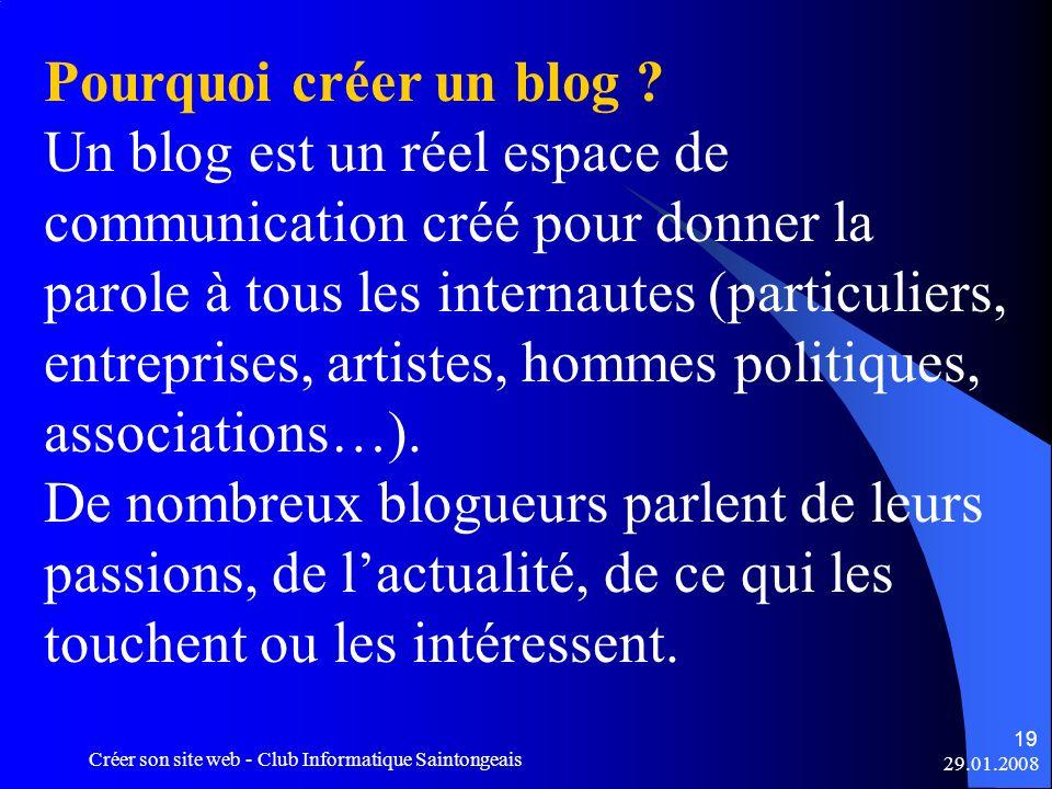 Pourquoi créer un blog