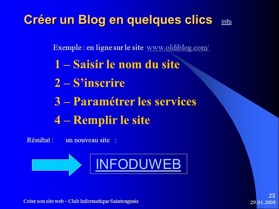 Créer un Blog en quelques clics info