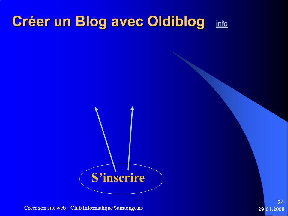 Créer un Blog avec Oldiblog info