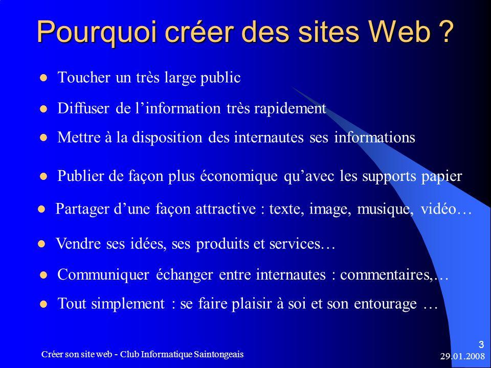 Pourquoi créer des sites Web