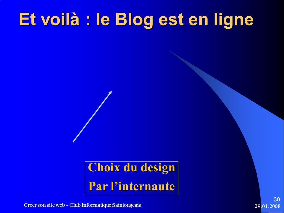 Et voilà : le Blog est en ligne