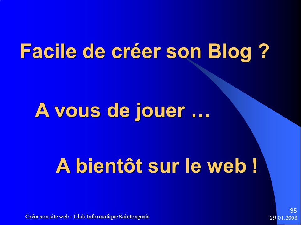 Facile de créer son Blog