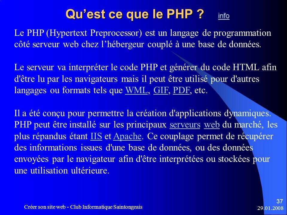 Qu'est ce que le PHP info