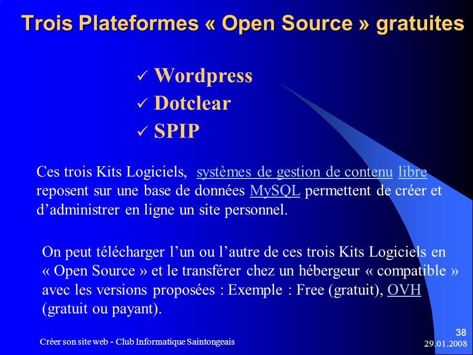 Trois Plateformes « Open Source » gratuites