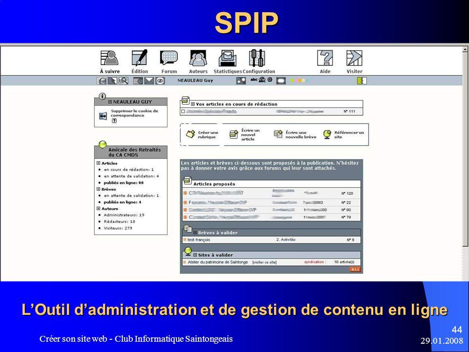 L'Outil d'administration et de gestion de contenu en ligne