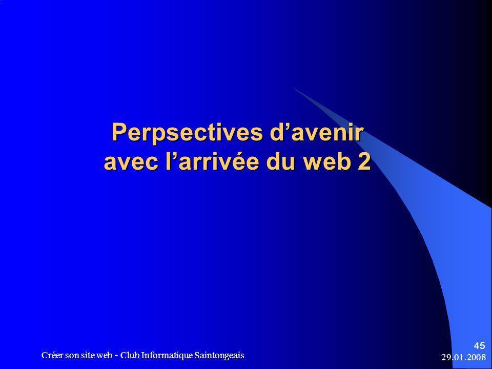 Perpsectives d'avenir avec l'arrivée du web 2