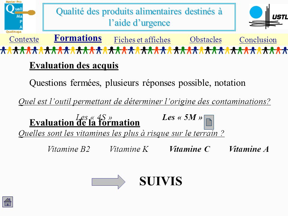 SUIVIS Formations Evaluation des acquis