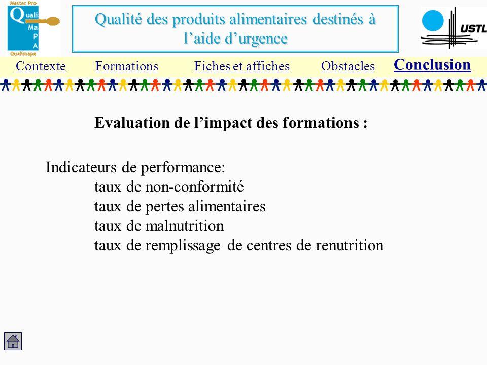 Evaluation de l'impact des formations :