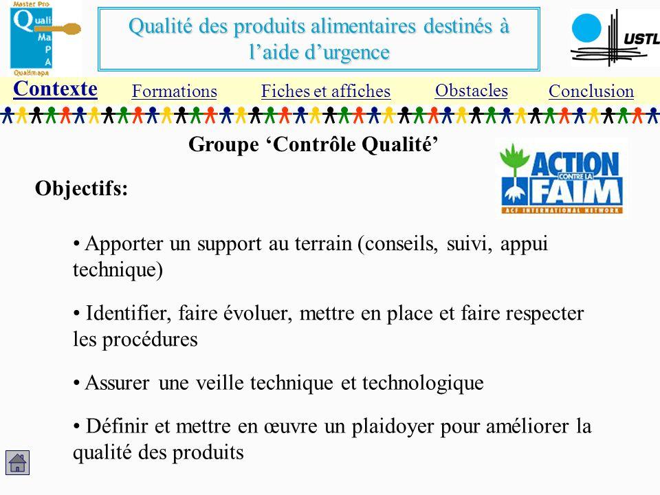 Groupe 'Contrôle Qualité'