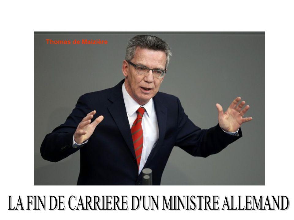 LA FIN DE CARRIERE D UN MINISTRE ALLEMAND
