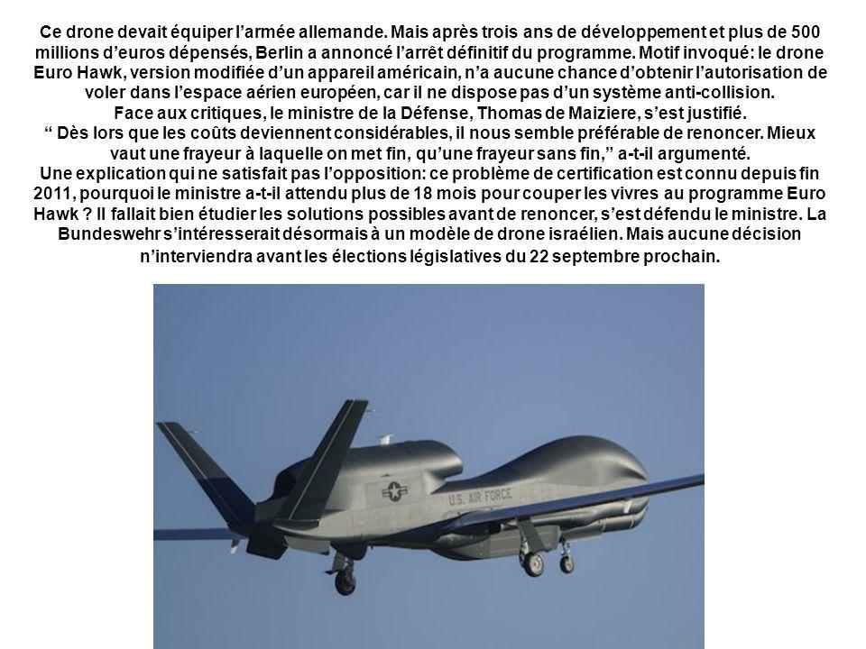Ce drone devait équiper l'armée allemande