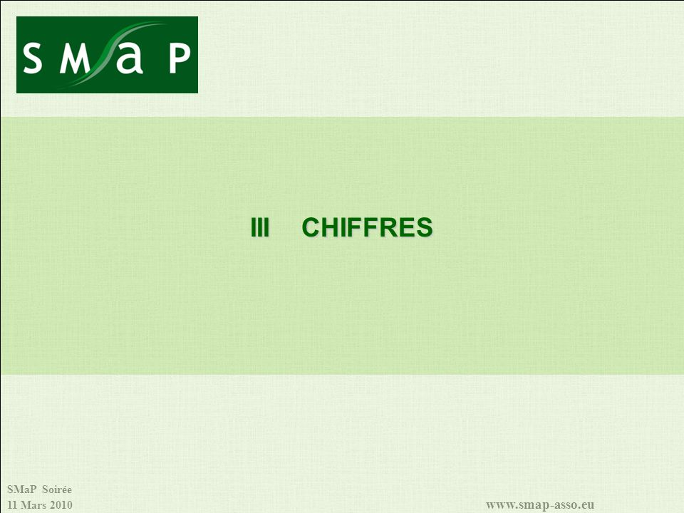 III CHIFFRES