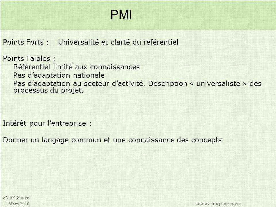 PMI Points Forts : Universalité et clarté du référentiel