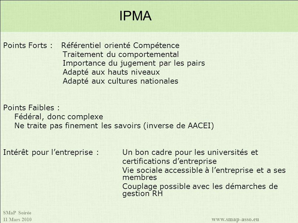 IPMA Points Forts : Référentiel orienté Compétence