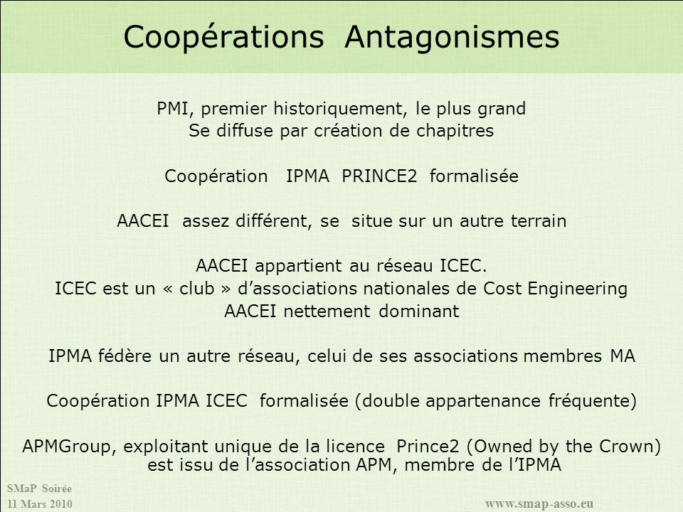 Coopérations Antagonismes