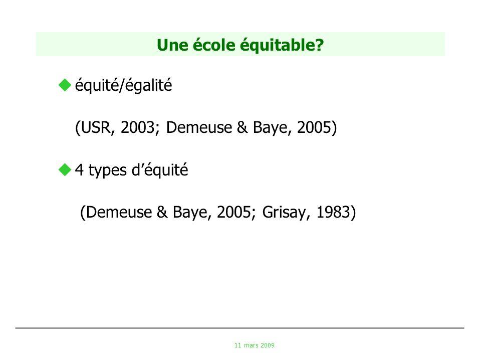 (Demeuse & Baye, 2005; Grisay, 1983)