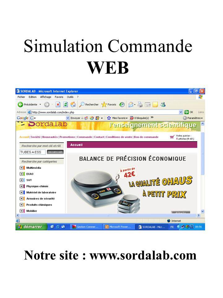 Simulation Commande WEB