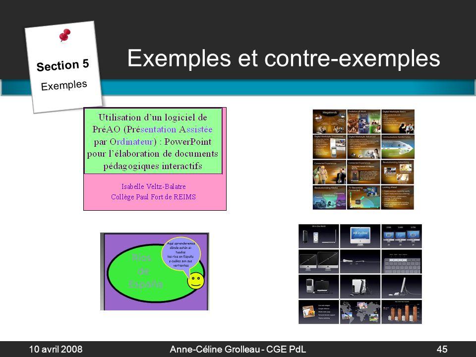Exemples et contre-exemples