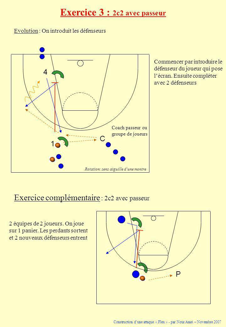 Exercice 3 : 2c2 avec passeur