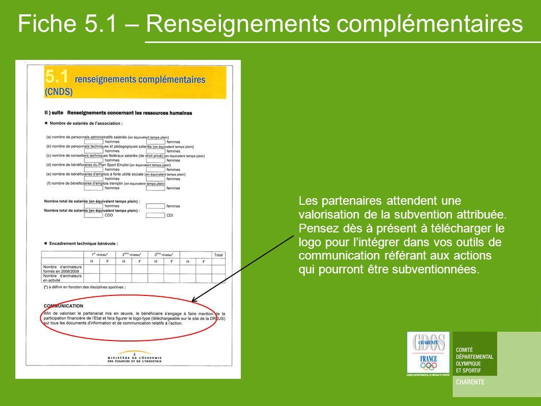 Fiche 5.1 – Renseignements complémentaires