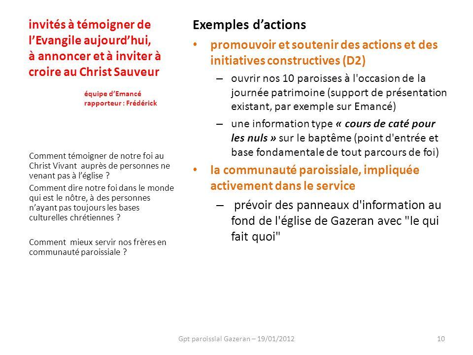 Gpt paroissial Gazeran – 19/01/2012