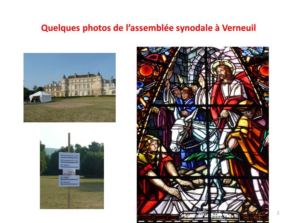 Quelques photos de l'assemblée synodale à Verneuil