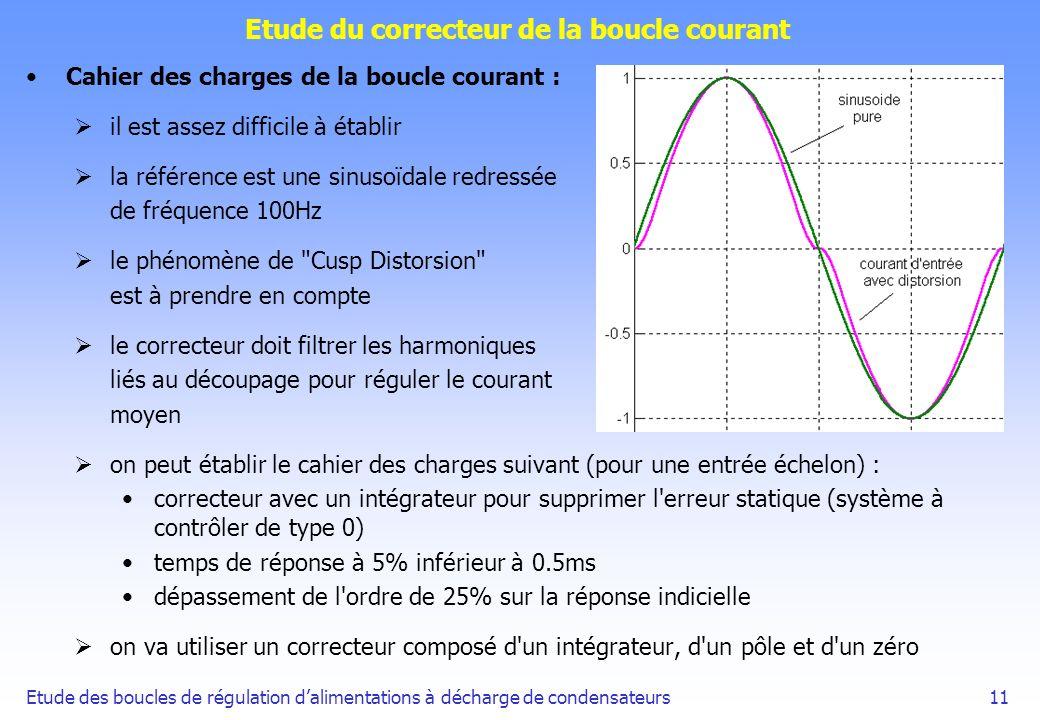 Etude du correcteur de la boucle courant