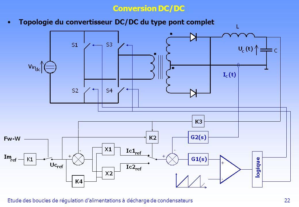 Conversion DC/DC Topologie du convertisseur DC/DC du type pont complet