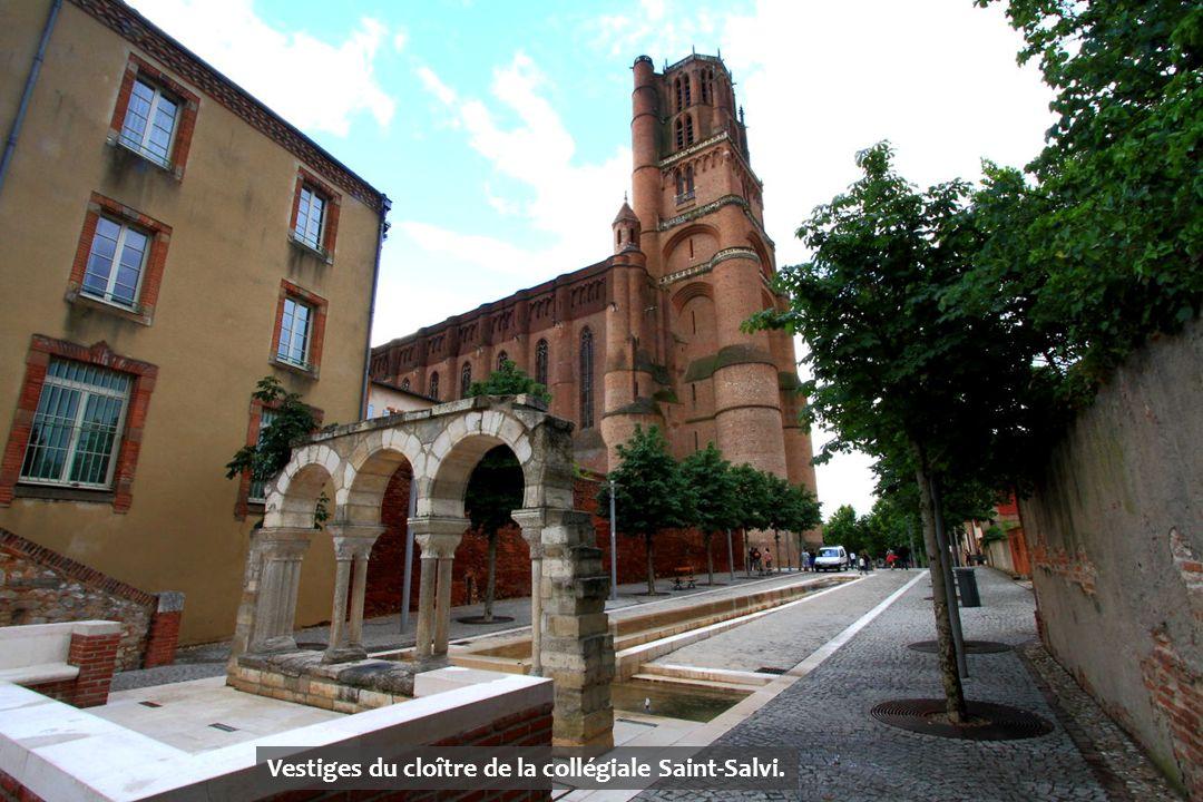 Vestiges du cloître de la collégiale Saint-Salvi.