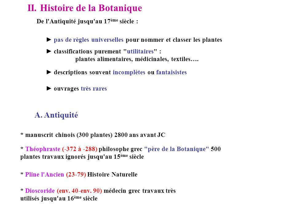 II. Histoire de la Botanique