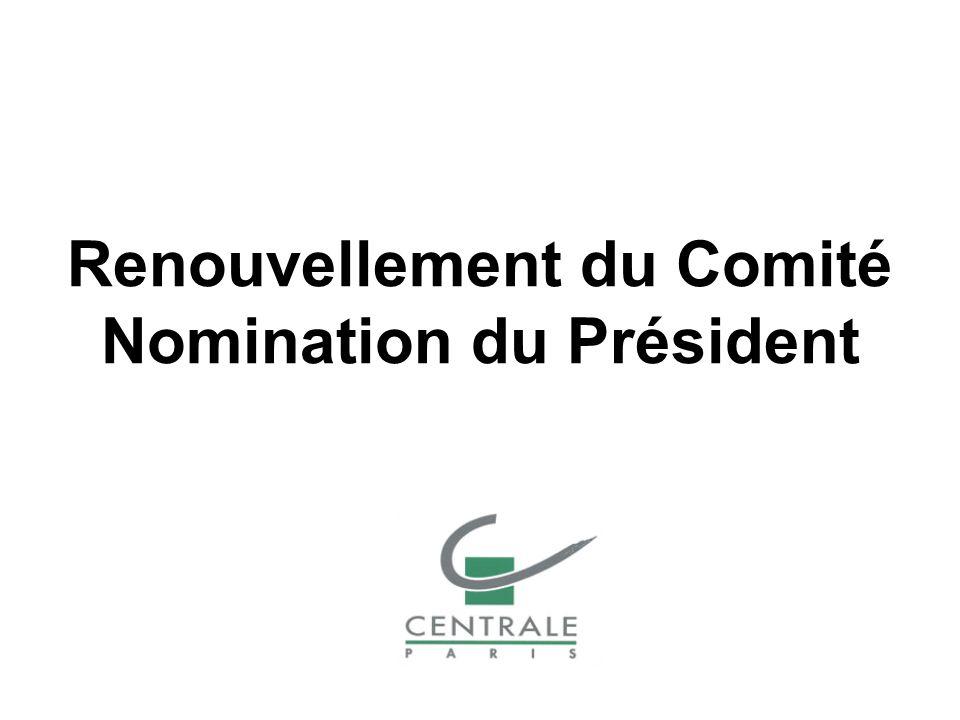 Renouvellement du Comité Nomination du Président
